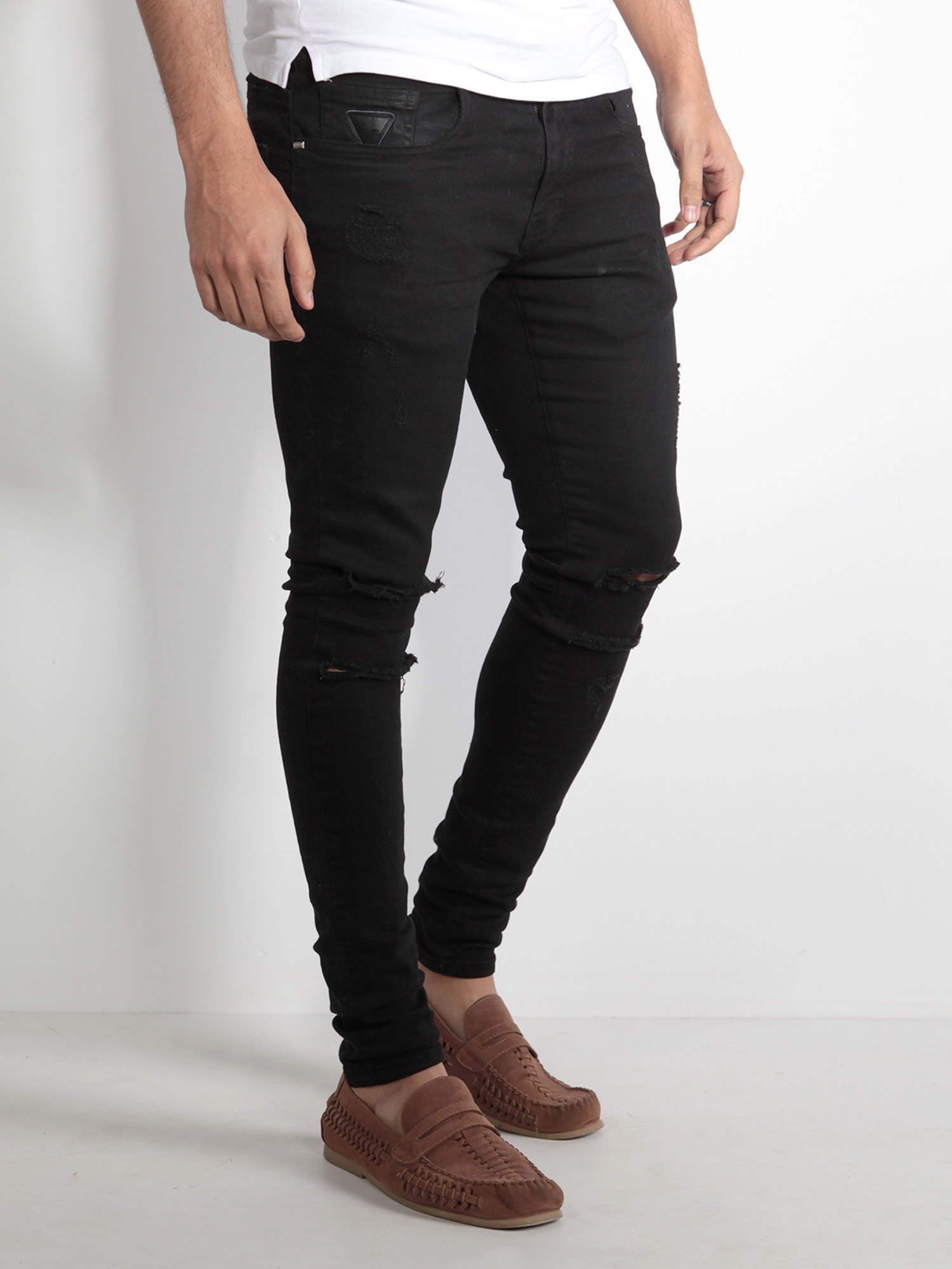 Mens Skinny Jeans With Ankle Zips