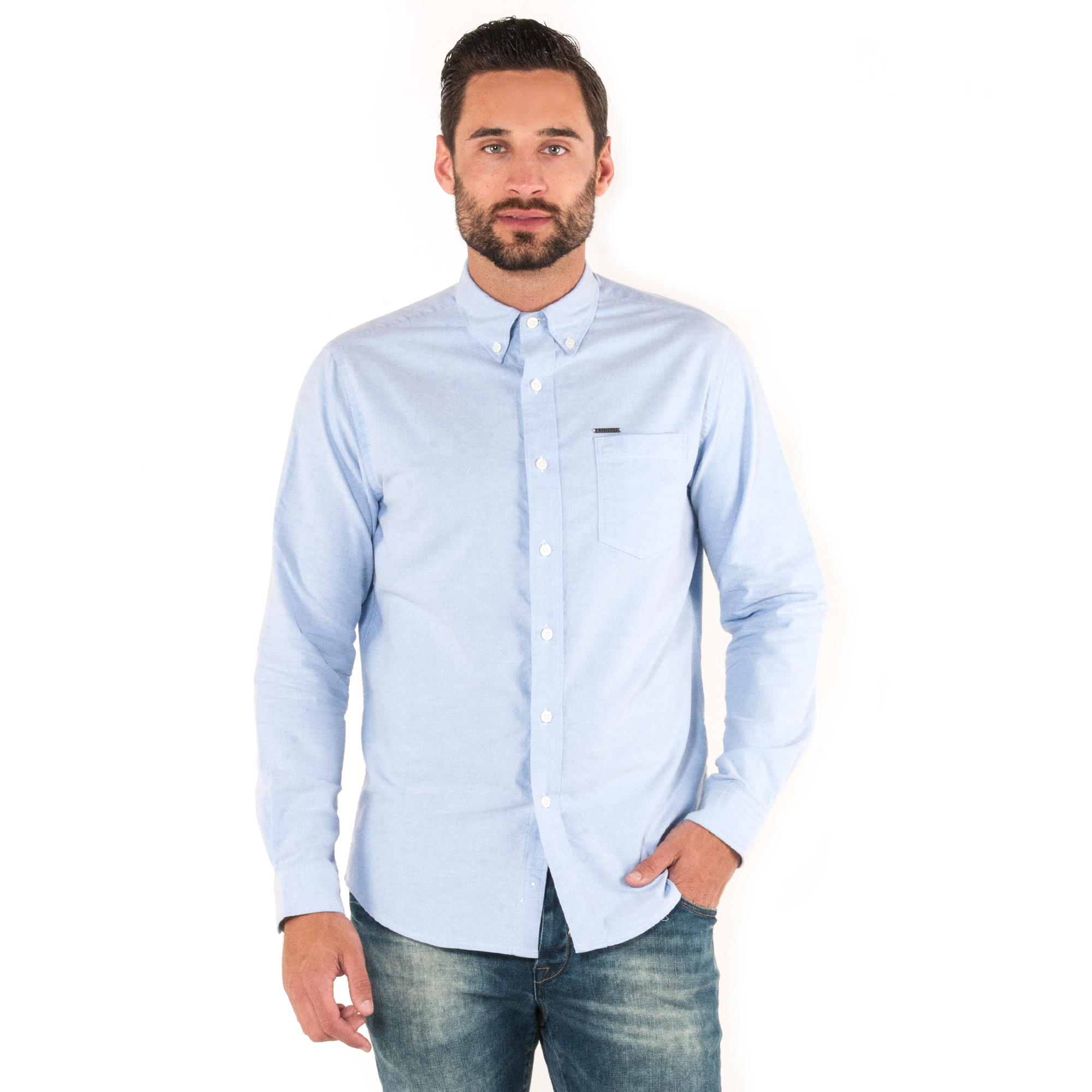 883 Police Mens Reed White Oxford Shirt Smart Casual Slim