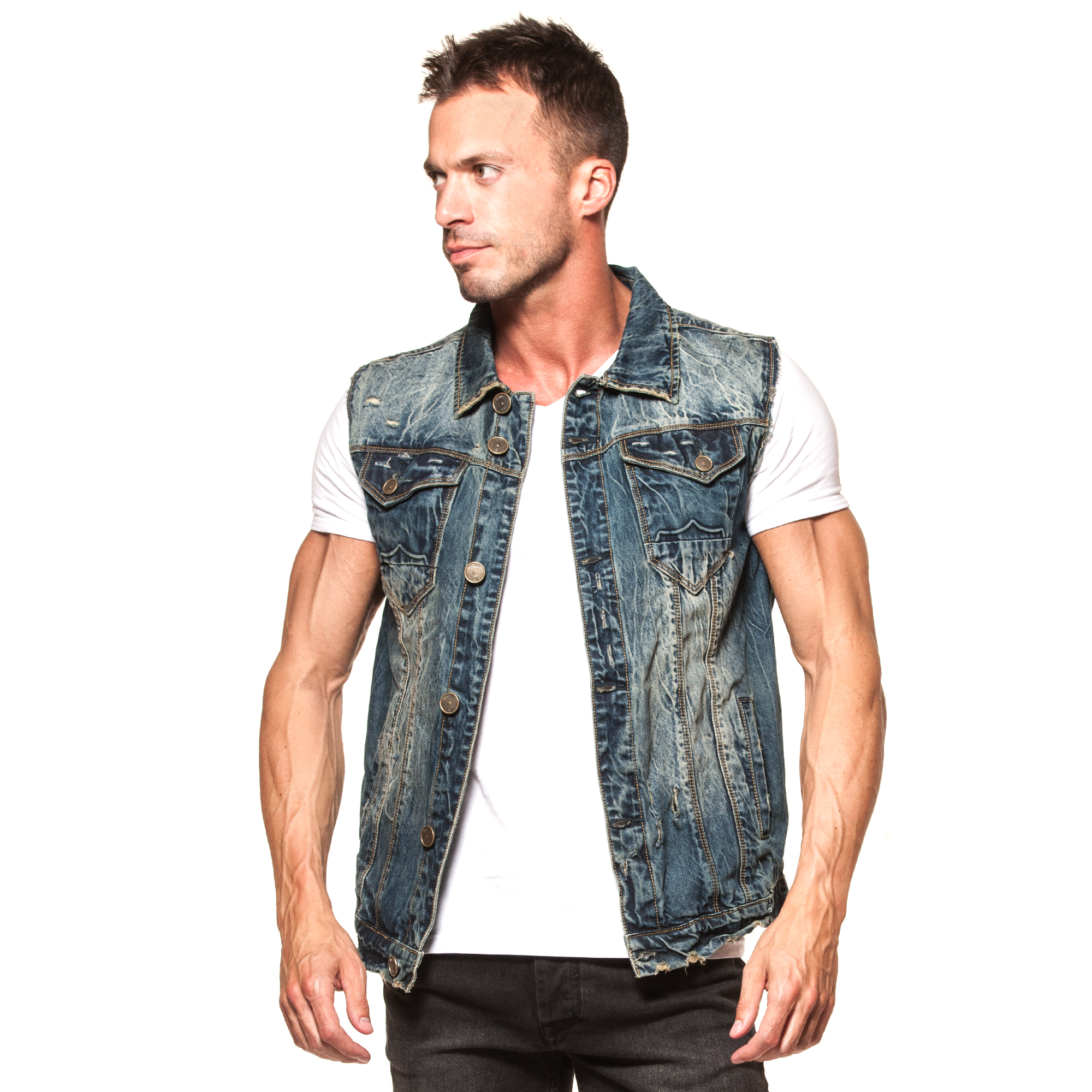 Free Shipping on Many Items! Shop from the world's largest selection and best deals for Men's Denim gilet Coats & Jackets. Shop with confidence on eBay!